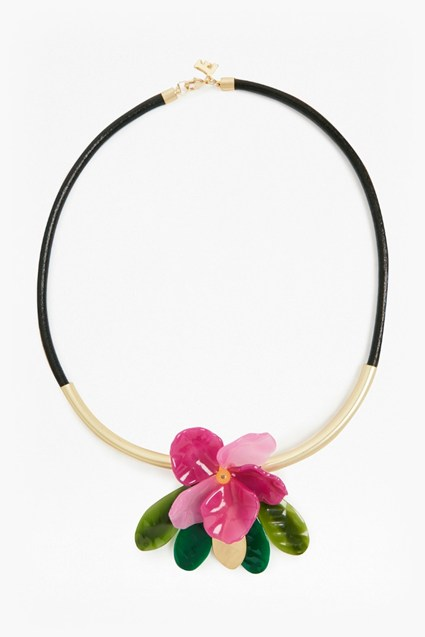 24 Inch Flower Pendant Necklace