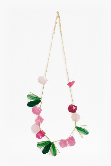 Endless Petal and Leaf Illusion Necklace