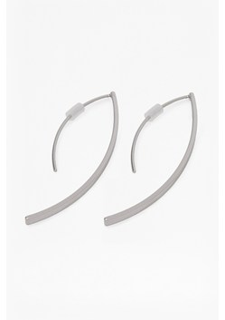 Elongated Curved Tube Earrings