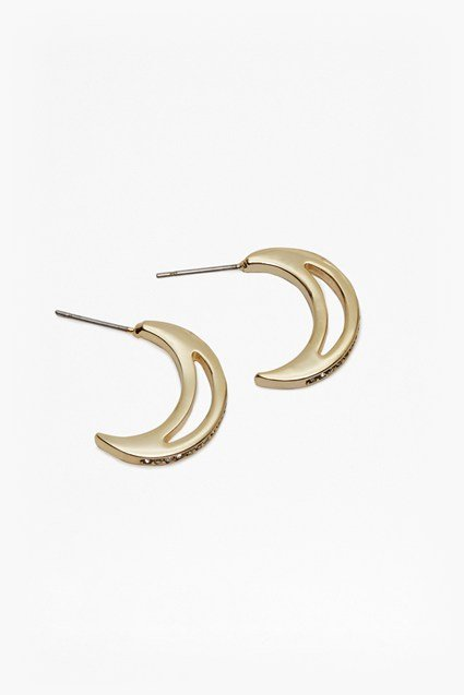 Moon Pendant Hoops