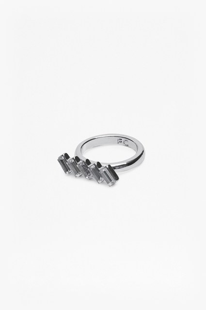 Crystal Baguette Ring