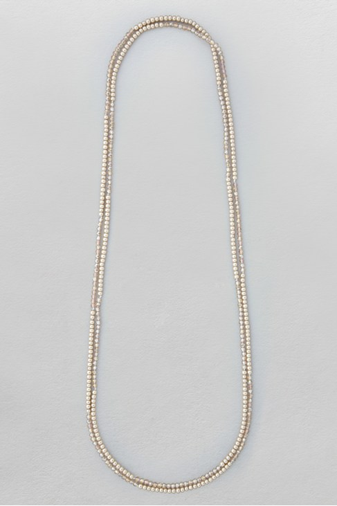Facet Pearl Rope Necklace