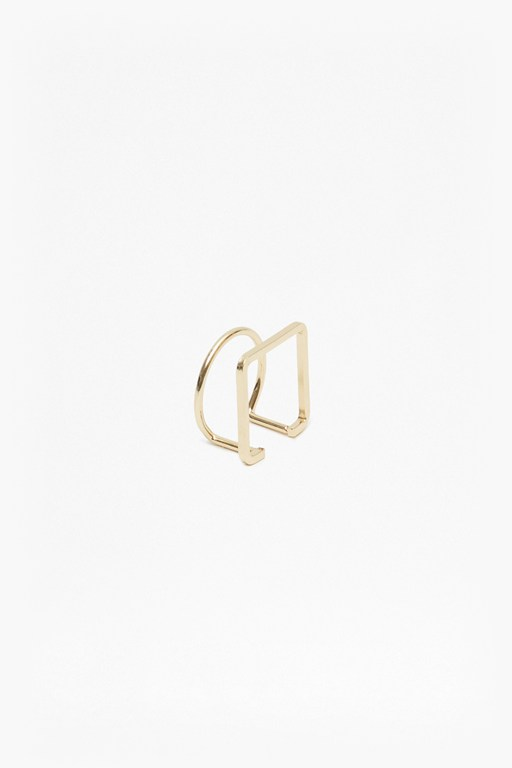 Complete the Look Geo Thin Circle Square Ring