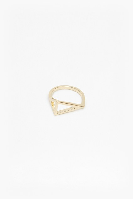 Geo Right Angle Ring