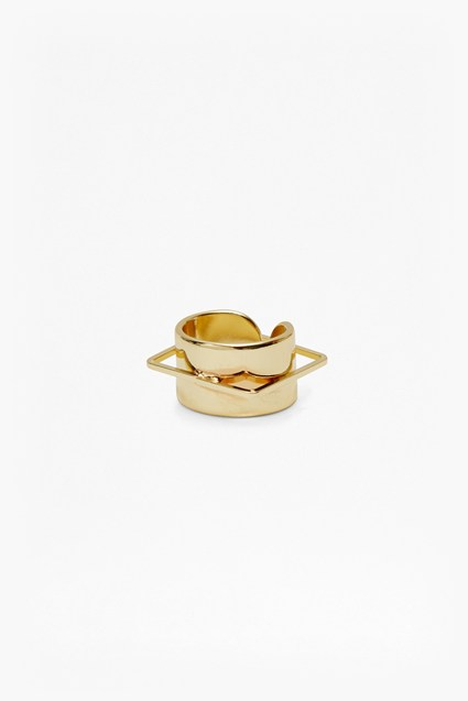 Geo Cuff And Square Ring