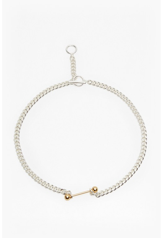 Piercing Choker Chain Necklace