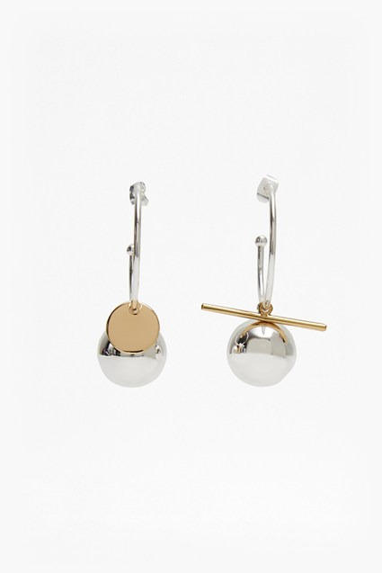 Piercing Ball and Bar Earrings