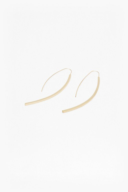 Complete the Look Core Curved Drop Bar Earrings