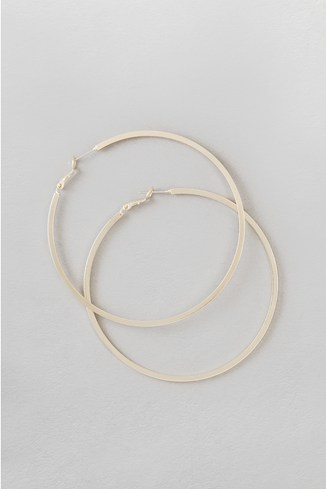 Square Cut Hoop Earrings
