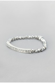 Metal Pave Stretch Bracelet