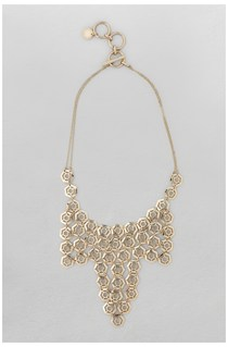 Hexagon Bib Collar Necklace