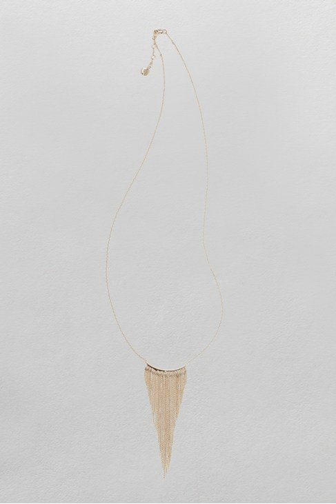 Waterfall Fringe Long Necklace