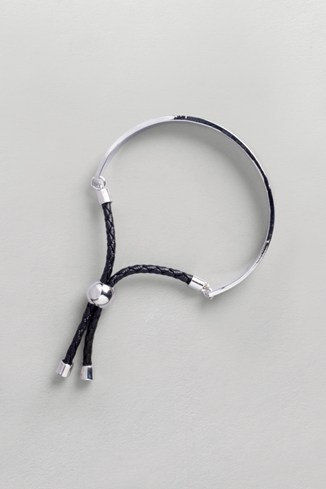 Half And Half Bangle Grey