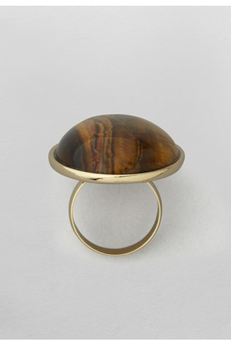 Tiger Eye Cabachon Ring