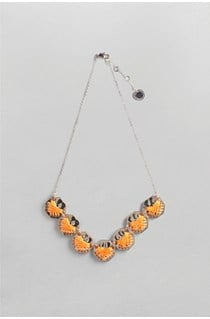 Wrapped Disc Collar Necklace