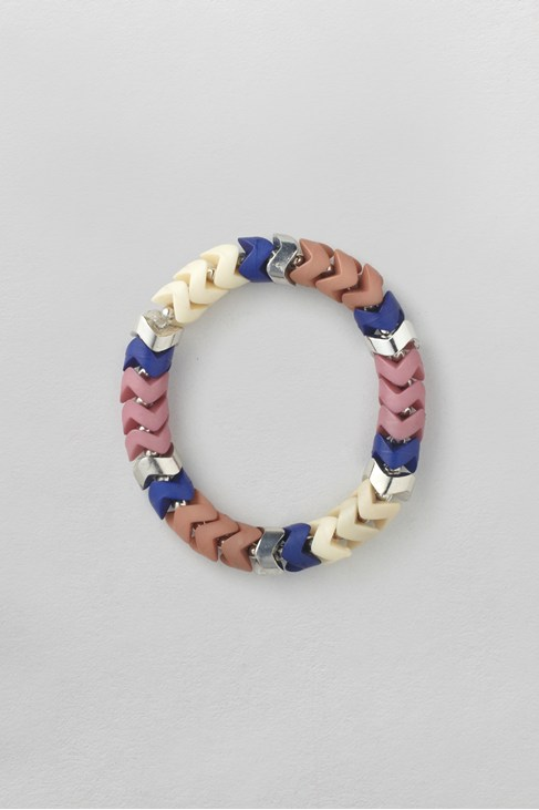 Blue Ivory Mix Stretch Bracelet