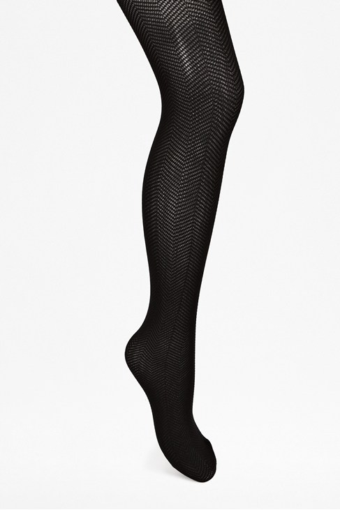 Fishnet Chevron Tights