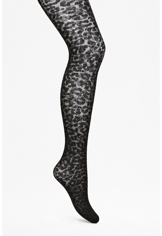 Clara Leopard Print Tights