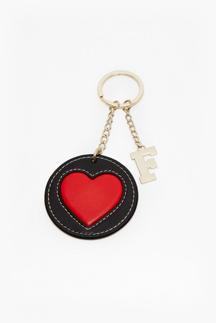 Heart Faux Leather Keyring