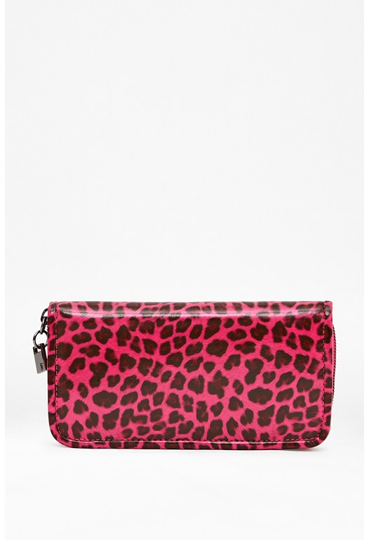 Animal Print Zipped Wallet