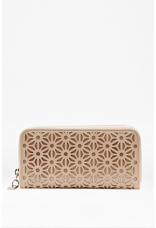 Zip Around Patterned Purse