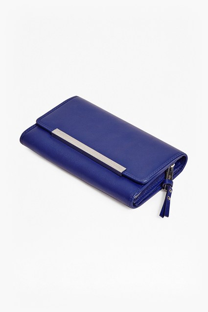 Koko Blue Leather Wallet