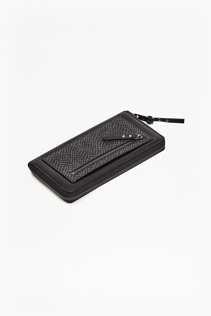Devin Snakeskin Leather Wallet