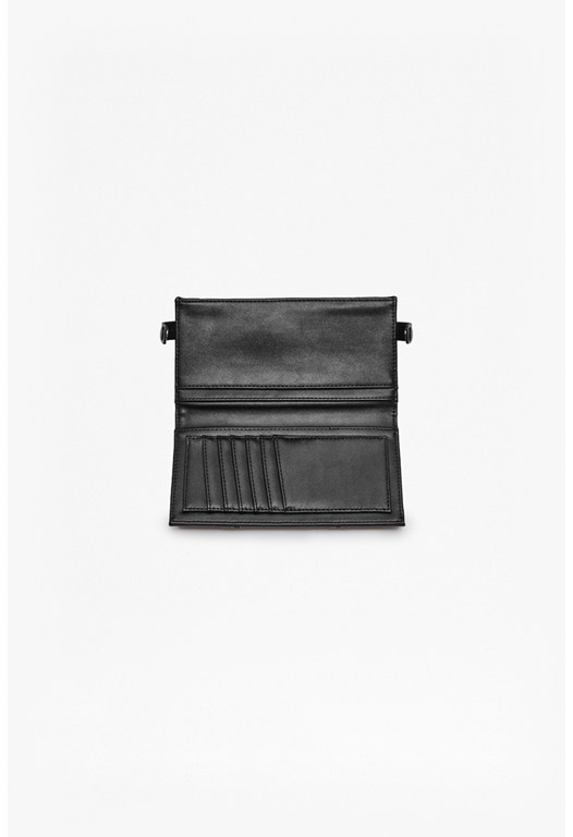 Priya Panelled Faux Leather Wallet