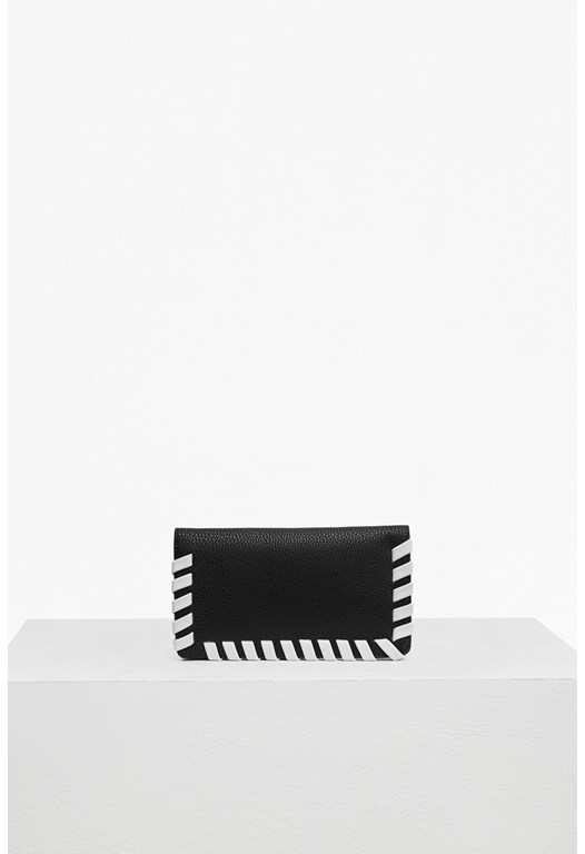 Whipstitch Faux Leather Wallet