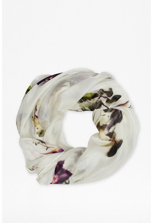 Water Flower Silk Scarf