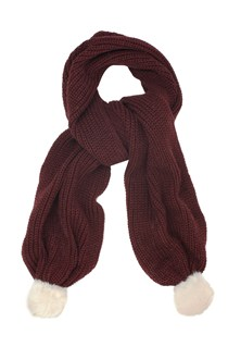 Ribbed Bobble Scarf