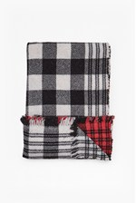 Looks Great With Lily Tartan Reversible Scarf