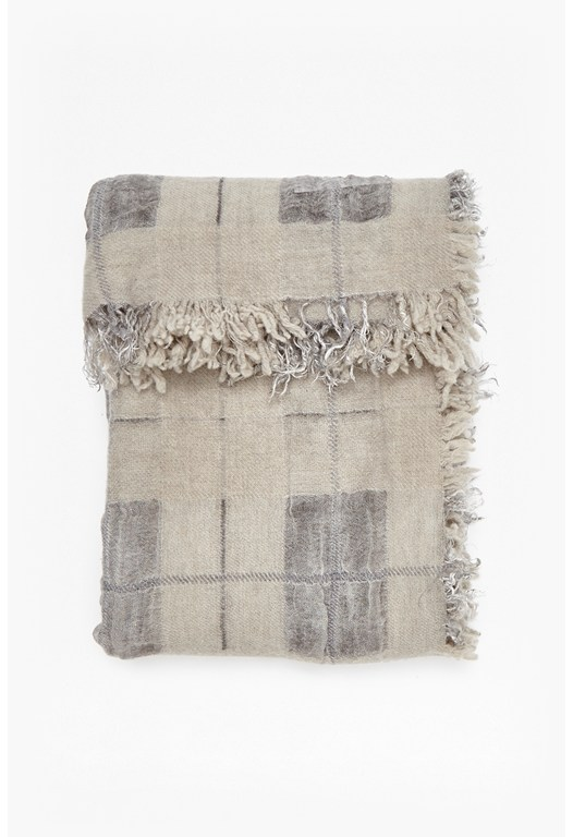 Liana Check Wool and Cashmere Scarf