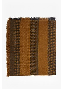 Isa Dip Dye Striped Dogtooth Scarf