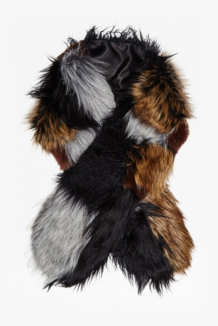 Faux Fur Patchwork Maxina Stole