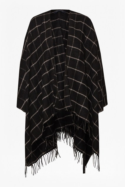 Windowpane Check Cape
