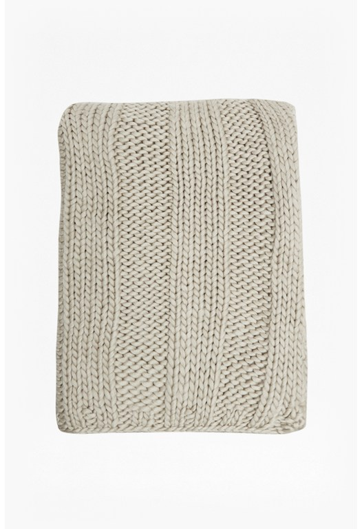 Erica Knit Wool Scarf