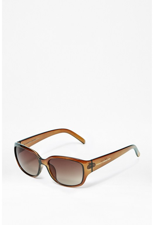 Rectangle Crystal Sunglasses