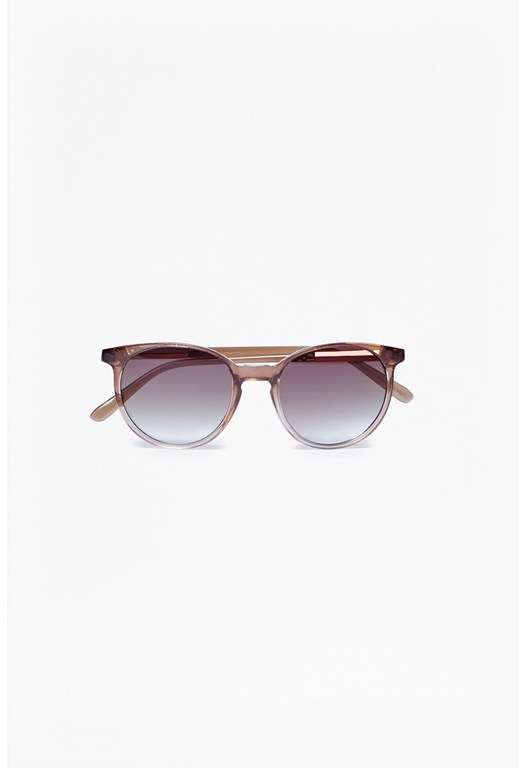 Hexagon Temple Round Sunglasses