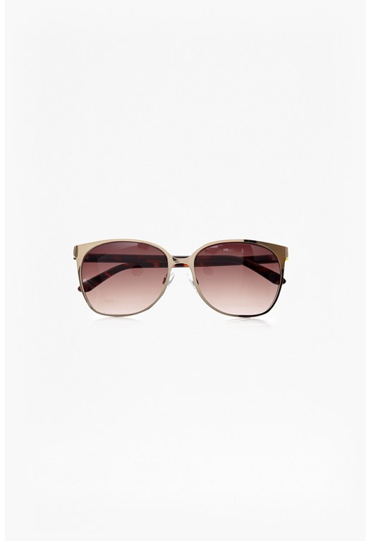 Square Framed Metal Sunglasses