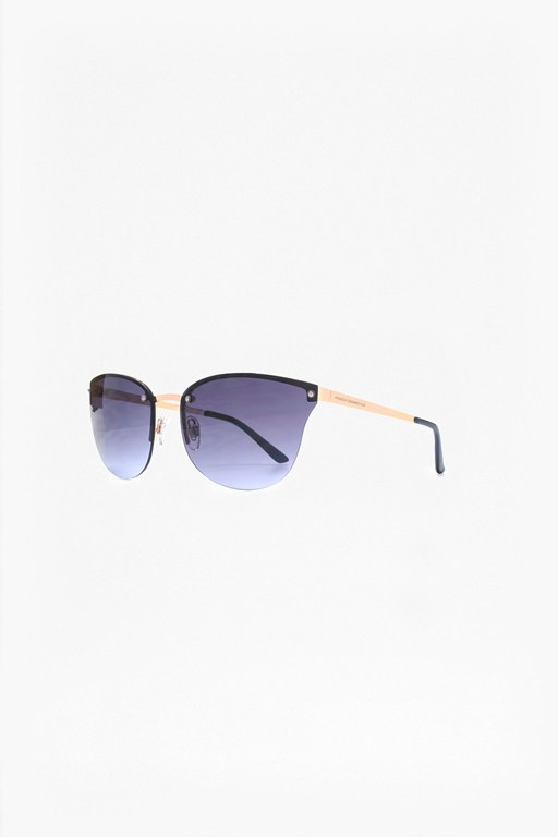 Complete the Look Semi Rimless Metal Cat Eye Sunglasses