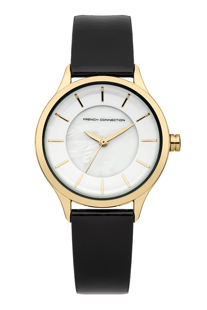 White Gloss And Leather Watch