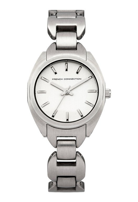 Brushed Silver Stainless Steel Watch