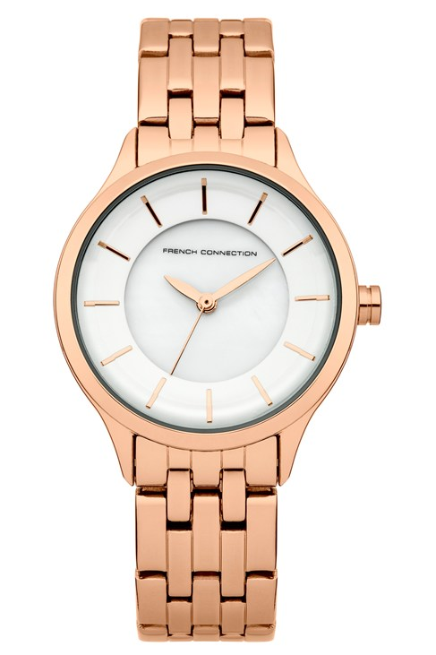 Classic Rose Gold Plated Bracelet Watch