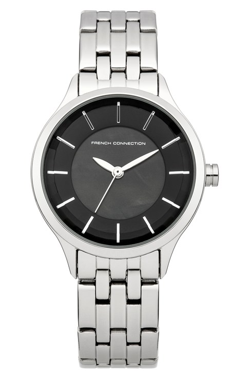 Classic Black Dial Bracelet Watch
