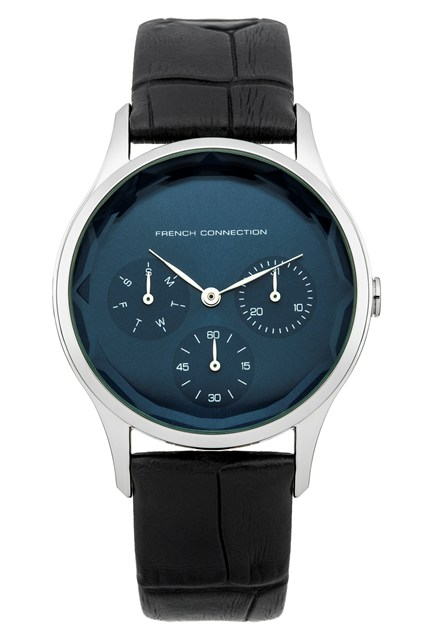 Black Gloss Leather Watch