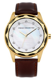 Broadway Crystal Leather Watch