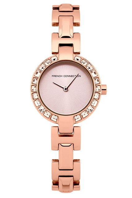 Rosemont Crystal Gold Plated Bracelet Watch