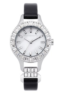 Savile Crystal Leather Watch