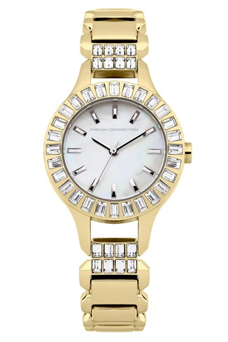 Savile Crystal Gold-Plated Bracelet Watch
